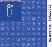 set of user interface symbols... | Shutterstock .eps vector #565221325