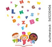 children learning english | Shutterstock .eps vector #565230406