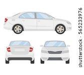 car vector template on white... | Shutterstock .eps vector #565233976
