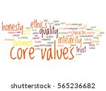 vector conceptual core values... | Shutterstock .eps vector #565236682