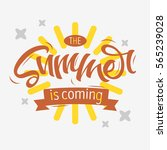 the summer is coming label... | Shutterstock .eps vector #565239028