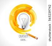 idea. design of progress bar ... | Shutterstock .eps vector #565239742