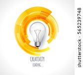 idea. design of progress bar ... | Shutterstock .eps vector #565239748