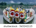 dragon head on the dragon boat. | Shutterstock . vector #565242115