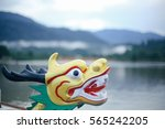dragon head on the dragon boat. | Shutterstock . vector #565242205