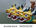dragon head on the dragon boat. | Shutterstock . vector #565242235