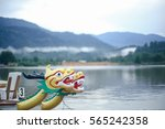 dragon head on the dragon boat. | Shutterstock . vector #565242358