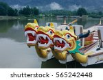 dragon head on the dragon boat. | Shutterstock . vector #565242448