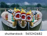 dragon head on the dragon boat. | Shutterstock . vector #565242682