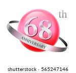 68 years celebrating... | Shutterstock .eps vector #565247146