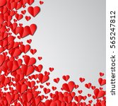 valentines day card with... | Shutterstock . vector #565247812