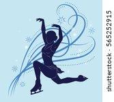 the figure skater's silhouette... | Shutterstock .eps vector #565252915