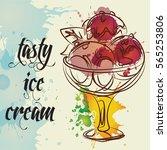 ice cream vector | Shutterstock .eps vector #565253806