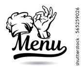 chef menu icon | Shutterstock .eps vector #565259026