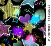 grunge seamless pattern for... | Shutterstock .eps vector #565260118