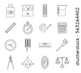 measure precision icons set.... | Shutterstock .eps vector #565264402