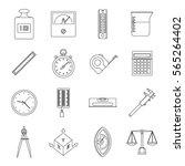 measure precision icons set.... | Shutterstock .eps vector #565264402