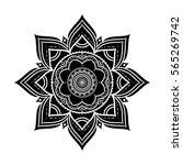 black hand drawn decorative... | Shutterstock . vector #565269742