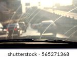 dirty windshield  pollution... | Shutterstock . vector #565271368