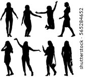 black silhouettes of beautiful... | Shutterstock . vector #565284652