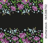 embroidery horizontal colorful... | Shutterstock .eps vector #565288702