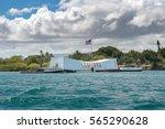 the uss arizona memorial on... | Shutterstock . vector #565290628