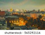 city center roofs evening view... | Shutterstock . vector #565292116