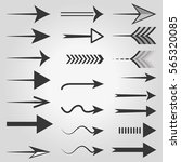 vector arrow icons. vector ...   Shutterstock .eps vector #565320085