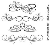 decorative monograms and... | Shutterstock .eps vector #565326352
