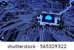 Blue Circuit Board Closeup...