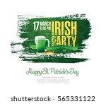 happy saint patrick's day.... | Shutterstock .eps vector #565331122