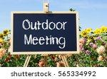 Outdoor Meeting   Chalkboard...