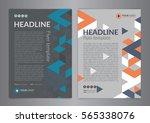 business brochure flyer design... | Shutterstock .eps vector #565338076