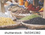 arabic spices at traditional... | Shutterstock . vector #565341382