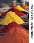 arabic spices at traditional... | Shutterstock . vector #565341502