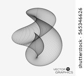 3d vector abstract organic form ... | Shutterstock .eps vector #565346626