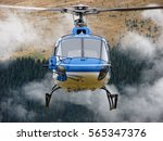 the front side of the helicopter | Shutterstock . vector #565347376
