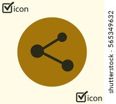 share  sign icon. vector of...