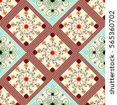 seamless geometric pattern ... | Shutterstock .eps vector #565360702