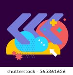 vector illustration of bright... | Shutterstock .eps vector #565361626