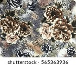 the beautiful of art fabric... | Shutterstock . vector #565363936
