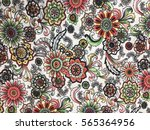 the beautiful of art fabric... | Shutterstock . vector #565364956