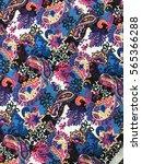 the beautiful of art fabric... | Shutterstock . vector #565366288