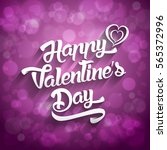 happy valentines day... | Shutterstock .eps vector #565372996