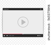 video player for web and mobile ... | Shutterstock .eps vector #565375846