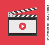 movie clapper board with video...   Shutterstock .eps vector #565375885