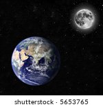 Composite Image Of Earth And...