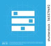 computer server icon  | Shutterstock .eps vector #565379692