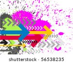contemporary art abstract... | Shutterstock .eps vector #56538235