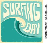 surfing background with big... | Shutterstock .eps vector #565388836